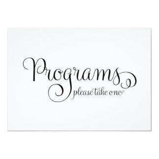 Program Wedding Sign,