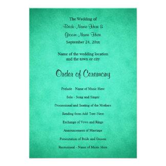 Programa abigarrado verde del boda del modelo