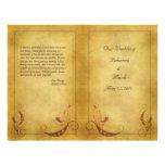 Programa adaptable del boda del vintage flyer personalizado