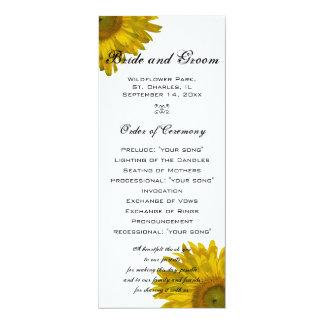 Programa amarillo del boda del girasol anuncios