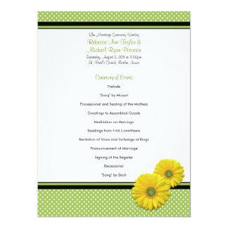 Programa amarillo del boda del lunar de la comunicados personales
