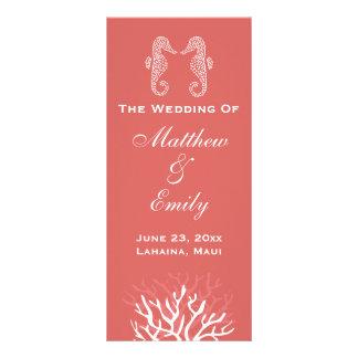 Programa anaranjado rosado del boda del Seahorse d Lonas Publicitarias
