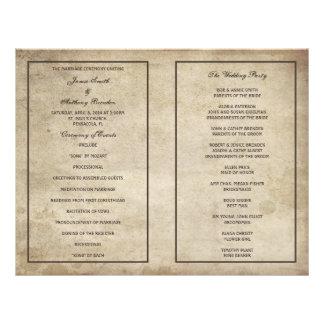 Programa apenado elegancia del boda de papel del v tarjetones
