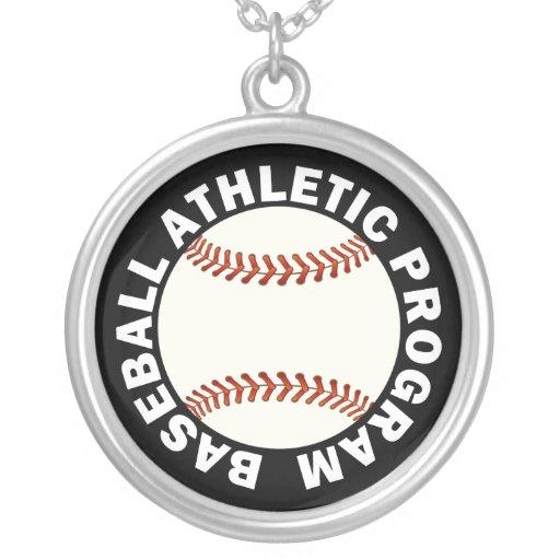 Programa atlético del béisbol colgante personalizado