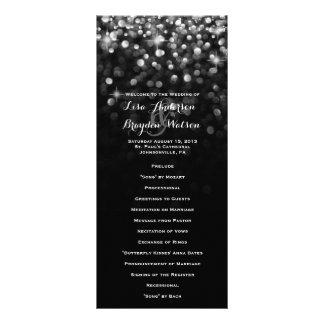 Programa atractivo del boda del Glitz negro de Diseños De Tarjetas Publicitarias