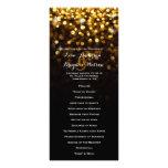 Programa atractivo del boda del Glitz negro de Lonas Personalizadas