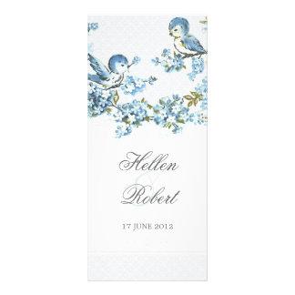 Programa azul de la ceremonia de boda del invierno lona