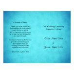 Programa azul y negro del boda tarjetas publicitarias