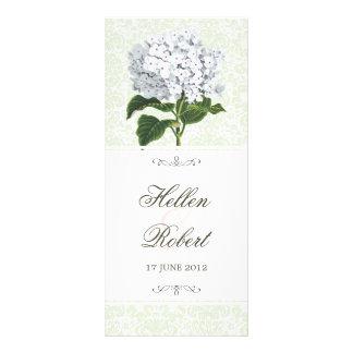 Programa blanco de la ceremonia de boda del Hydran Lonas Personalizadas