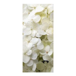 Programa blanco del boda del Hydrangea Plantillas De Lonas