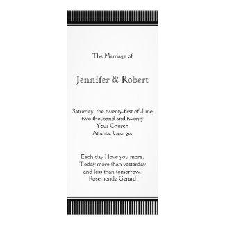 Programa blanco negro del boda de la raya del art  lona publicitaria