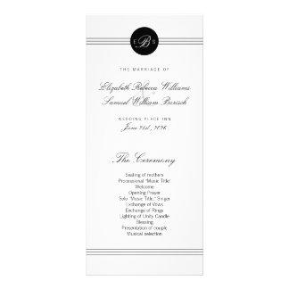 Programa blanco negro elegante elegante del boda lonas