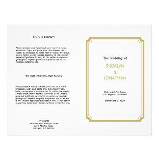 Programa blanco retro del boda del moreno de Holly Tarjeta Publicitaria