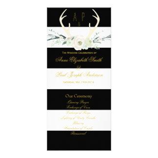 Programa blanco y negro floral de las rayas de las lona personalizada