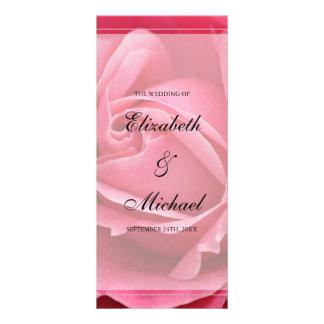 Programa color de rosa rosado del boda lonas personalizadas