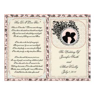 """Programa de color de malva del boda del cordón folleto 8.5"""" x 11"""""""