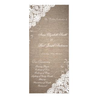 Programa de la arpillera y del boda del cordón lona publicitaria