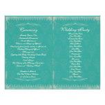 Programa de la ceremonia de boda del vintage tarjetas publicitarias