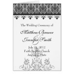 Programa de la ceremonia de boda y orden de la tar tarjetas