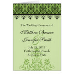 Programa de la ceremonia de boda y orden de la tar tarjetón