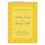 Programa de la ceremonia de boda y orden de la tar felicitacion