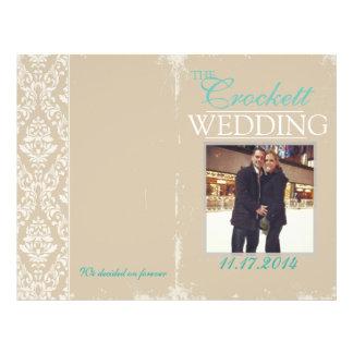 """Programa de la ceremonia de la foto del boda del folleto 8.5"""" x 11"""""""