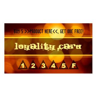 Programa de la lealtad tarjetas de visita