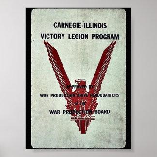 Programa de la legión de la victoria de Carnegie-I Posters