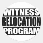 programa de la relocalización del testigo etiquetas redondas