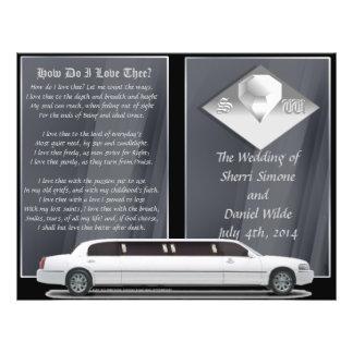 Programa de lujo del boda diseño del BI-doblez Tarjetas Informativas