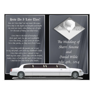 Programa de lujo del boda diseño del BI-doblez Tarjetón