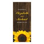 Programa de madera del boda del granero de los tarjetas publicitarias a todo color