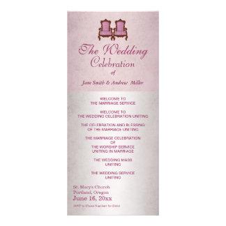 Programa de madera del boda del vintage rústico lona personalizada