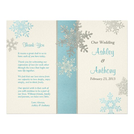 Programa de marfil azul de plata del boda del invi tarjetón