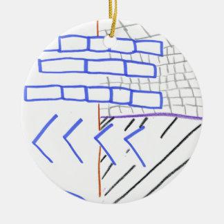 Programa de papel adorno navideño redondo de cerámica
