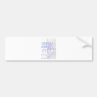 Programa de papel pegatina de parachoque