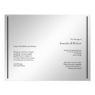 Programa de plata del boda de la elegancia tarjetones