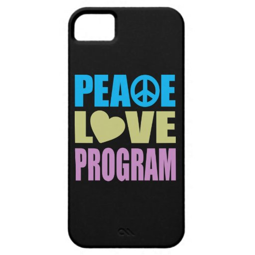 Programa del amor de la paz iPhone 5 Case-Mate cárcasas