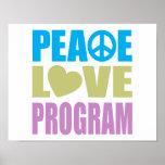 Programa del amor de la paz impresiones