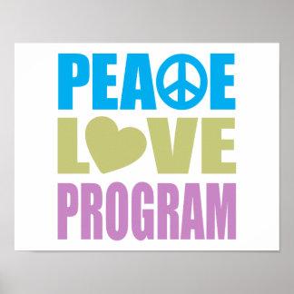 Programa del amor de la paz póster