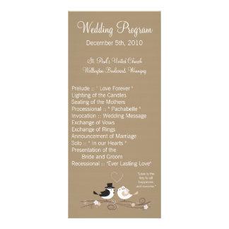 programa del boda 25 4x9 que casa al novio de la n diseño de tarjeta publicitaria
