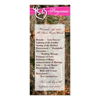 programa del boda 25 4x9 que caza el dólar Camo de Folleto Publicitario 10 X 22,8 Cm