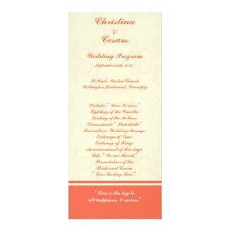 programa del boda 25 4x9 rosáceo/voluta formal del lonas personalizadas