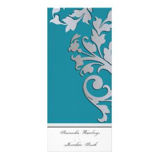 Programa del boda - chispa de la turquesa y de la  diseños de tarjetas publicitarias