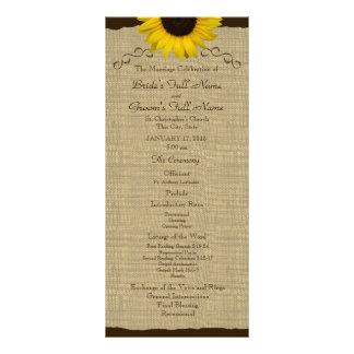 Programa del boda de la arpillera del país del gir tarjetas publicitarias personalizadas