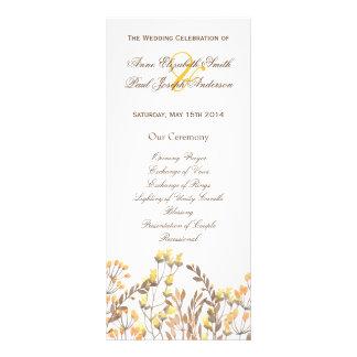 Programa del boda de la caída de la naturaleza lona personalizada