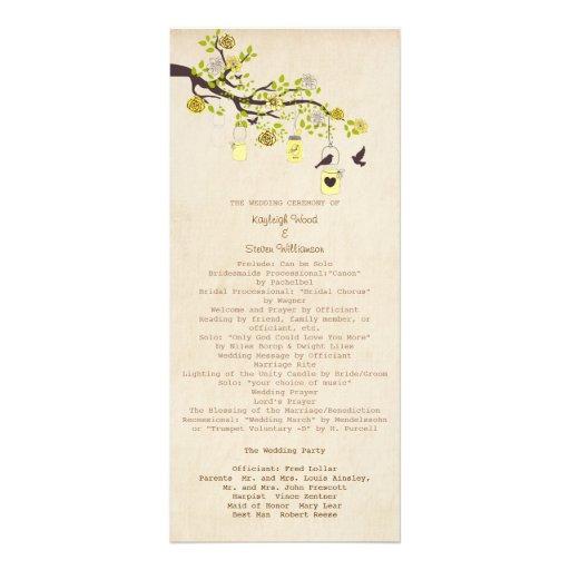 Programa del boda de la dicha del limón tarjeta publicitaria personalizada