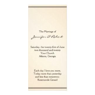 Programa del boda de la elegancia de la cáscara de lonas