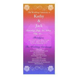 Programa del boda de la flor del hibisco tarjeta publicitaria