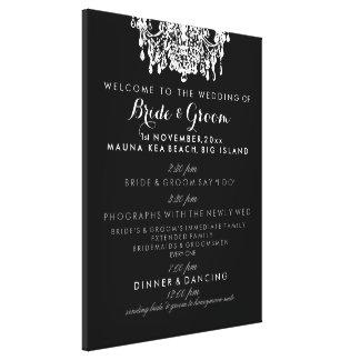 Programa del boda de la lámpara de PixDezines Lona Envuelta Para Galerías
